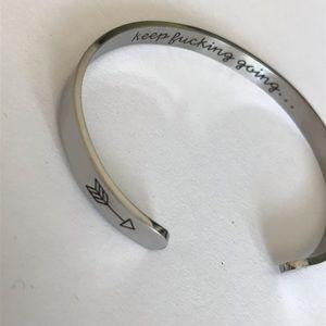Jewelry - Keep effing going bracelets